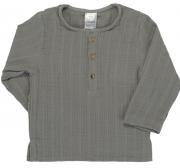 Рубашка из хлопкового муслина серого цвета из коллекции Essential 12-18M Tkano