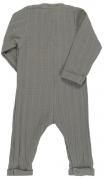 Комбинезон с длинным рукавом из хлопкового муслина серого цвета из коллекции Essential 12-18M Tkano