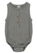 Боди из хлопкового муслина серого цвета из коллекции Essential 12-18M Tkano
