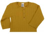 Рубашка из хлопкового муслина горчичного цвета из коллекции Essential 3-4Y Tkano