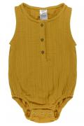 Боди из хлопкового муслина горчичного цвета из коллекции Essential 6-9M Tkano