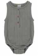 Боди из хлопкового муслина серого цвета из коллекции Essential 9-12M Tkano