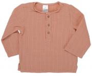 Рубашка из хлопкового муслина цвета пыльной розы из коллекции Essential 4-5Y Tkano