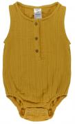 Боди из хлопкового муслина горчичного цвета из коллекции Essential 9-12M Tkano