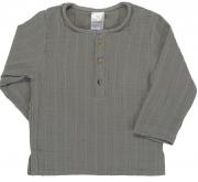 Рубашка из хлопкового муслина серого цвета из коллекции Essential 18-24M Tkano