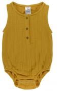 Боди из хлопкового муслина горчичного цвета из коллекции Essential 3-6M Tkano