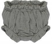Шорты для новорожденных из хлопкового муслина серого цвета из коллекции Essential 6-9M Tkano