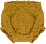 Шорты для новорожденных из хлопкового муслина горчичного цвета из коллекции Essential 9-12M Tkano