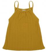 Топ из хлопкового муслина горчичного цвета из коллекции Essential 18-24M Tkano