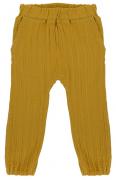 Штаны из хлопкового муслина горчичного цвета из коллекции Essential 12-18M Tkano