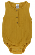 Боди из хлопкового муслина горчичного цвета из коллекции Essential 12-18M Tkano