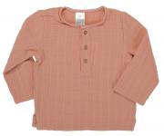 Рубашка из хлопкового муслина цвета пыльной розы из коллекции Essential 12-18M Tkano