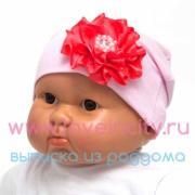 Детская шапочка с милым цветочком