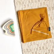 Mjolk Комплект (пеленка и шапочка) Golden Brown Swaddle