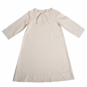 Рубашка крестильная Эдельвейс Молочный (сатин. кружево) 511