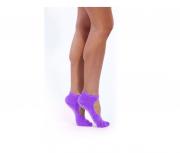 Носки противоскользящие для занятий йогой, фиолетовый BRADEX SF 0347 BRADEX Носки противоскользящие для занятий йогой, фиолетовый