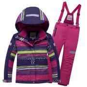 Горнолыжный костюм Valianly для девочки темно-фиолетовый р.110