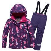 Горнолыжный костюм Valianly 8928F фиолетовый р.110