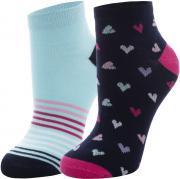 Demix Носки для девочек Demix, 2 пары, размер 28-30