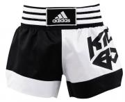 Adidas Шорты для кикбоксинга Micro Diamond Kick Boxing Short, бело-черные Adidas