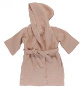 Халат из жатого хлопка цвета пыльной розы из коллекции Essential 4-5Y Tkano