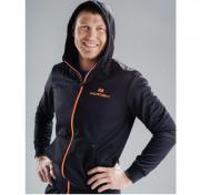 Толстовка с капюшоном NORDSKI Base Zip 599103 черный/оранжевый