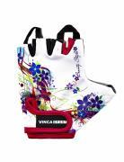 Перчатки велосипедные Vinca Sport Flowers, разноцветные, 4,5