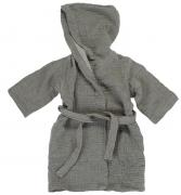 Халат из жатого хлопка серого цвета из коллекции Essential 3-4Y Tkano