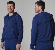 Толстовка с капюшоном NORDSKI Base Zip 599770 т.синий