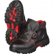 Ботинки мужские Сварщик 1205М натуральная кожа черные с металлическим подноском размер 44