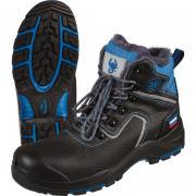 Ботинки утепленные мужские Трекбот 1801.1ПК натуральная кожа черные с поликарбонатным подноском размер 42