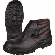 Ботинки сварщика утепленные натуральная кожа черные с металлическим подноском размер 42