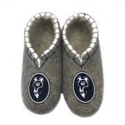 Мужская домашняя обувь ВаленкиОпт.ру Т358 45 Серый