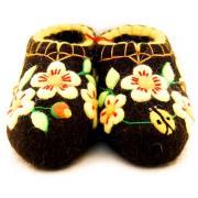 Тапочки женские ручной работы 41 Чёрный