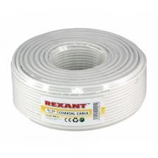 Кабель видео REXANT Кабель 3С-2V, (48%), 75 Ом, 100м., белый (01-2611) – фото 1