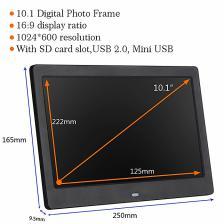 EstgoSZ 10-дюймовый светодиодный экран цифровая фоторамка HD1024 * 600 многофункциональный музыкальный фильм фото видео дисплей домашний электронный фотоальбом – фото 1