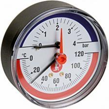 """Термоманометр giacomini r226 1/2"""", tc -от 0 до +120°c, pn, бар-0-6 r226y002"""