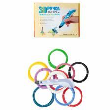 Комплект 3Д ручка NIT-PEN2 фиолетовая + пластик ABS 10 цветов по 10 метров