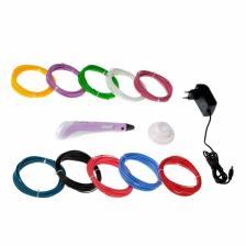 Комплект 3Д ручка NIT-PEN2 фиолетовая + пластик ABS 10 цветов по 10 метров – фото 1