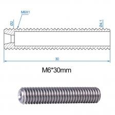 5 шт. 30 мм Длина экструдера 1,75 мм PTFE Горловая трубка и 1set 0,4 мм MK8 Из нержавеющей стали Из нержавеющей стали Форсуль для принтера M6 Head – фото 4