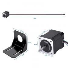 3 Pack Nema 17 Шаговый двигатель с 1М 4-контактным кабелем и разъемом и 3 комплект для монтажного кронштейна для 3D для 3D-принтера / ЧПУ – фото 4