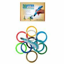 Комплект 3Д ручка NIT-PEN2 голубая + пластик PLA 10 цветов по 10 метров