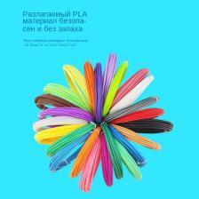 3 д ручка с набором пластика, синий – фото 3