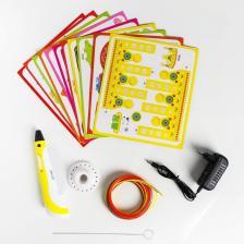 3D ручка с дисплеем, набор PLA пластика, цвет жёлтый – фото 1