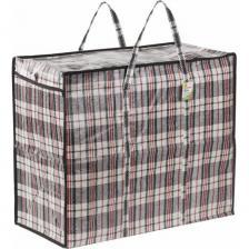 Хозяйственная сумка-баул любаша полипропилен, 60x50x30 см, 90 литров, черно-красная, 150 г/м2 604702