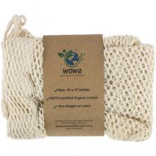 Wowe Certified Organic Cotton Mesh Bag, 1 Bag, 12 in x 17 in