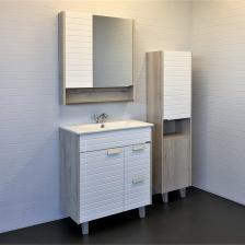 Comforty Шкаф-колонна Клеон 40 белый/дуб дымчатый 00-00003947 – фото 1