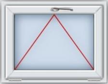Пластиковое окно ПВХ REHAU BLITZ 670x870 мм фрамуга, двухкамерный стеклопакет, белое
