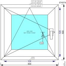 Пластиковое окно ПВХ REHAU Action New 600х600 мм