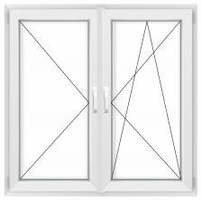 Двустворчатое окно Rehau Grazio правое